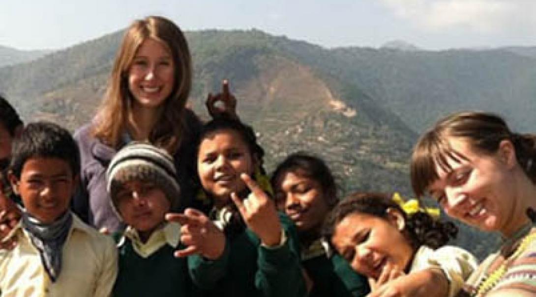 Emma A C in Nepal